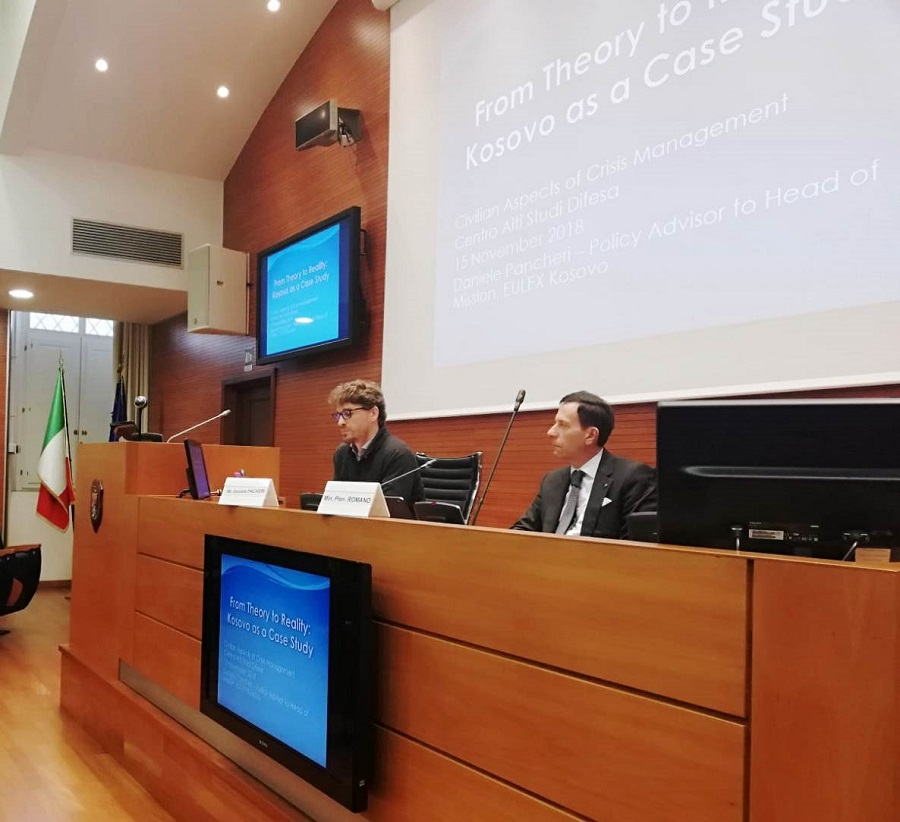 "EULEX's work presented at the fifth edition of the ""Civilian Aspects of Crisis Management"" course in Rome"